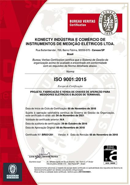 certificado iso 9001 konecty